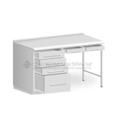 Стол однотумбовый с двумя подвесными ящиками СТ04.2