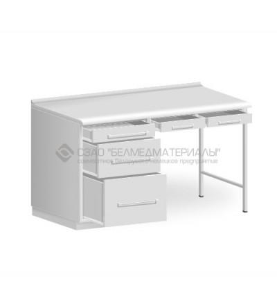 Стол однотумбовый с двумя подвесными ящиками СТ03.2
