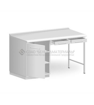 Стол однотумбовый с двумя подвесными ящиками СТ01.2