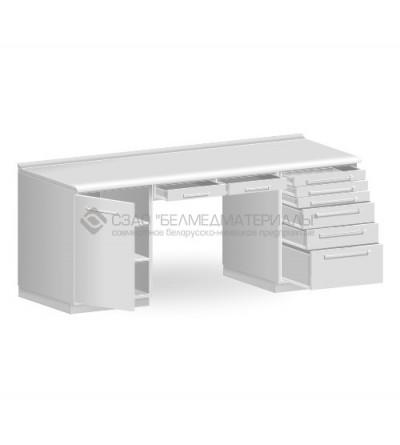 Стол двухтумбовый с двумя подвесными ящиками СТ03.06.2
