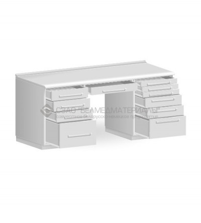 Стол двухтумбовый с одним подвесным ящиком СТ04.06.1