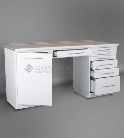 Стол двухтумбовый с одним подвесным ящиком СТ01.06.1